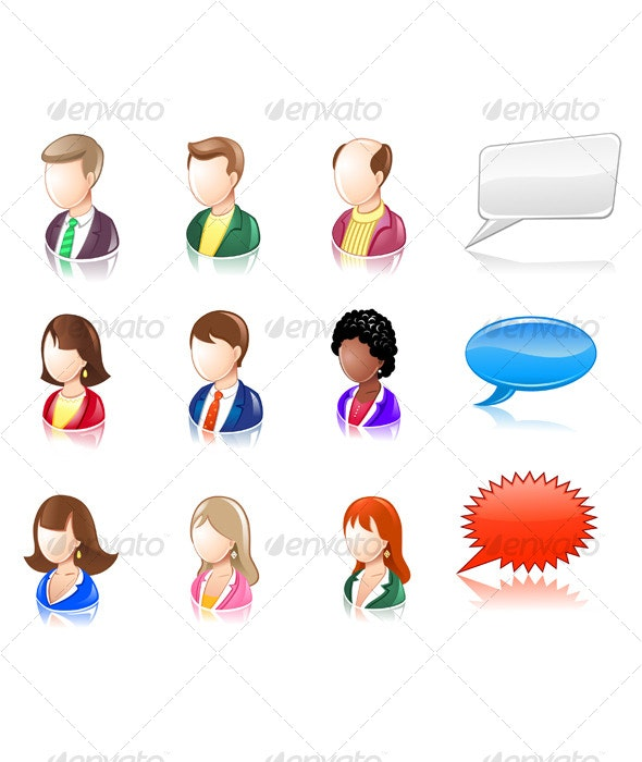 Various People Glossy IconSet - People Characters