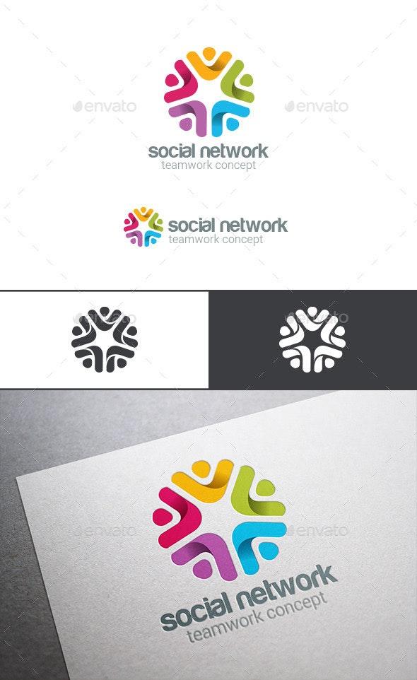 Social Team Work Web Media Logo - Abstract Logo Templates