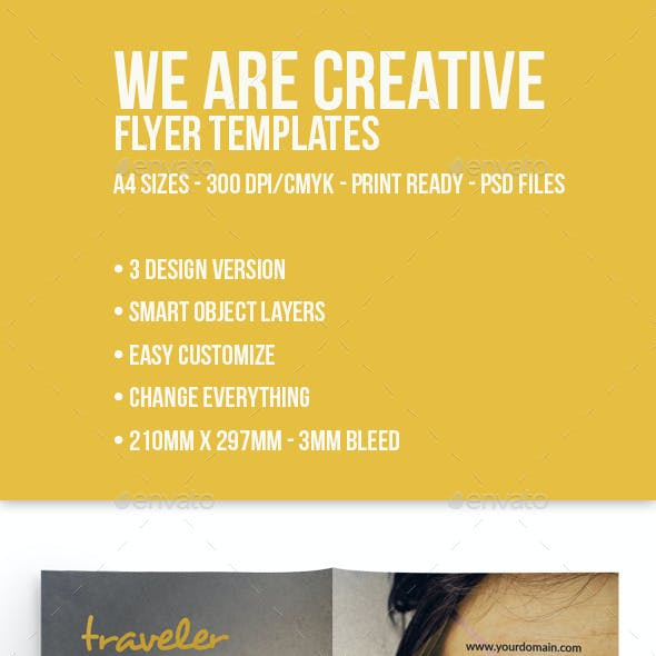 We Are Creative Corporate Flyer