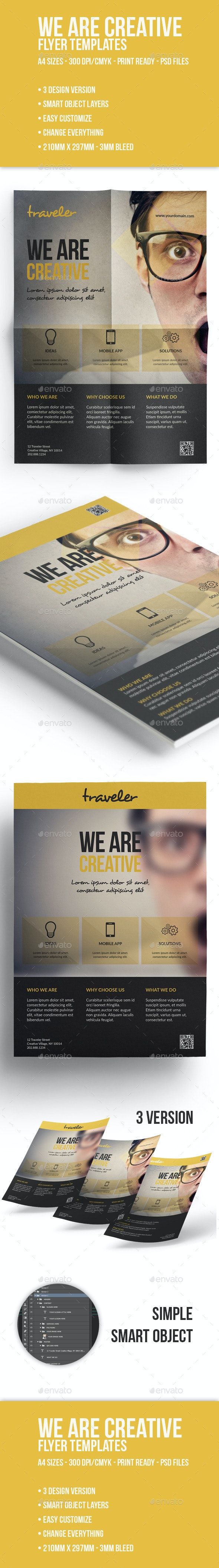 We Are Creative Corporate Flyer  - Corporate Flyers