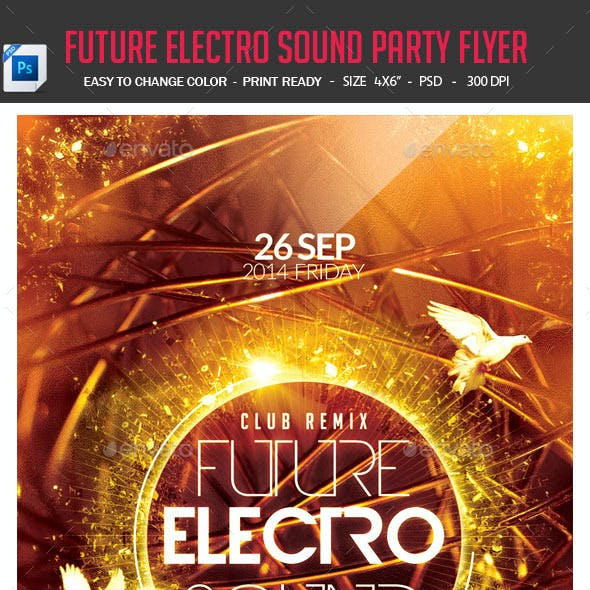 Future Electro Sound Party Flyer
