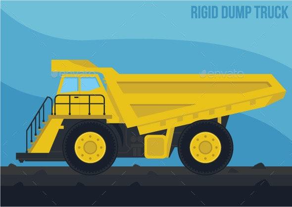 Mining Machinery Rigid Dump Truck - Vectors