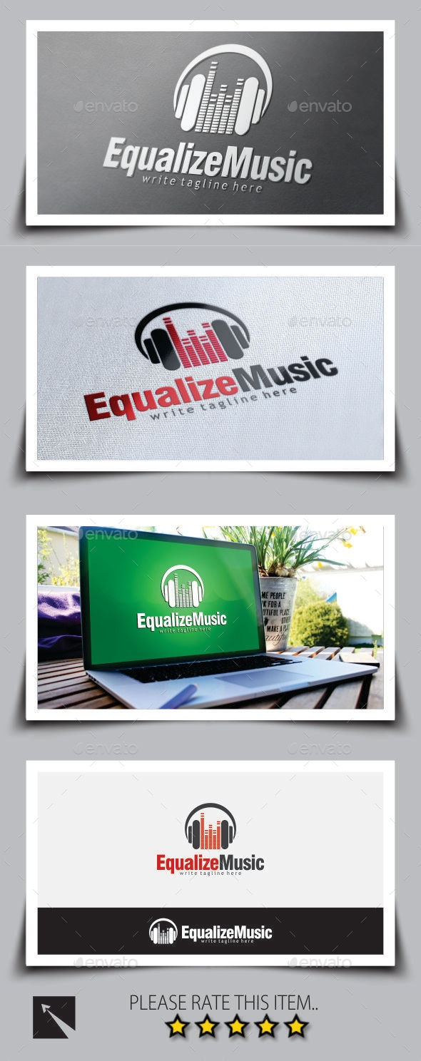 Music Equalizer Logo Template - Objects Logo Templates