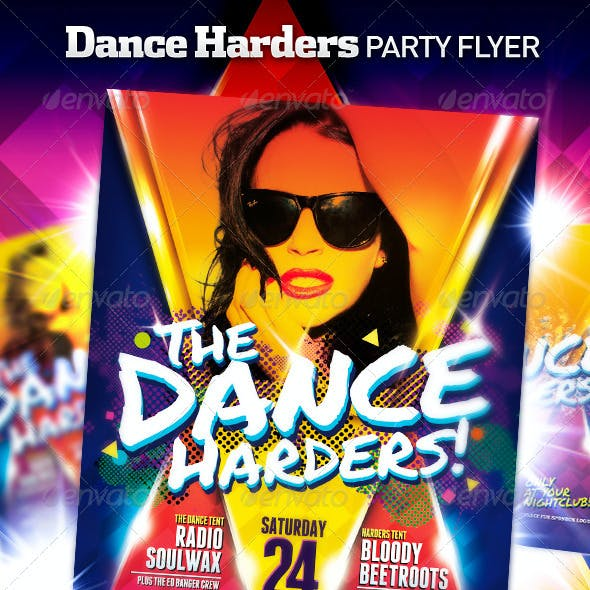 Club Night Party Flyer Poster | The Dance Harders