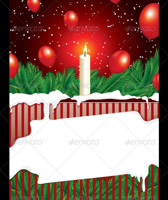 Christmas Background With Copy Space - Backgrounds Decorative