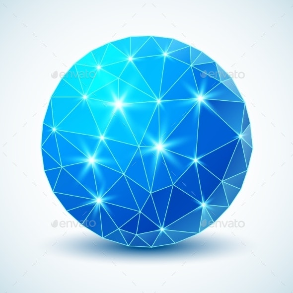 Blue Technology Geometric Ball. - Miscellaneous Conceptual