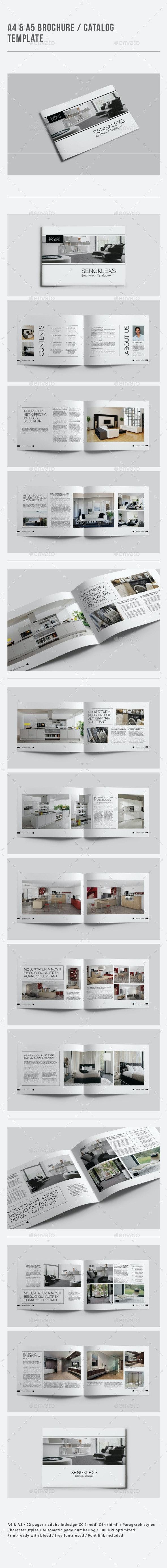 A4 & A5 Brochure / Catalogue Template - Catalogs Brochures