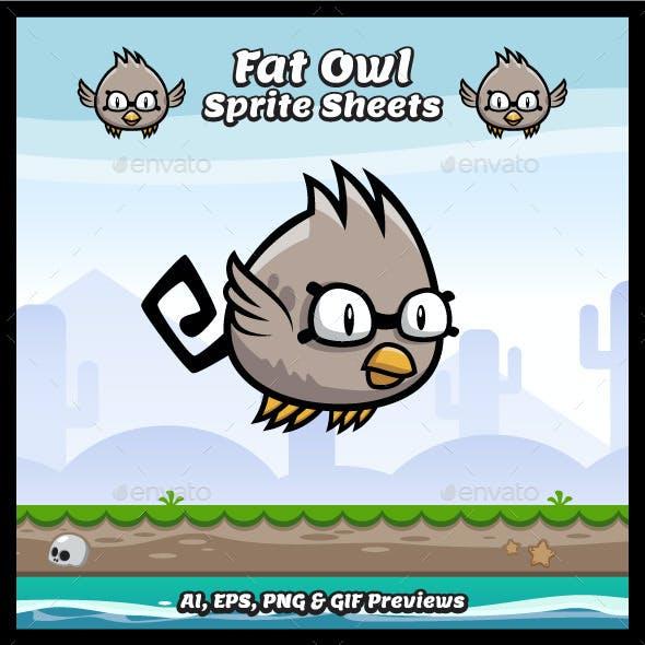 Fat Owl Sprite Sheets