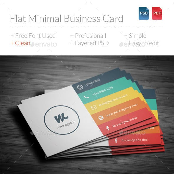 Flat Minimal Business Card