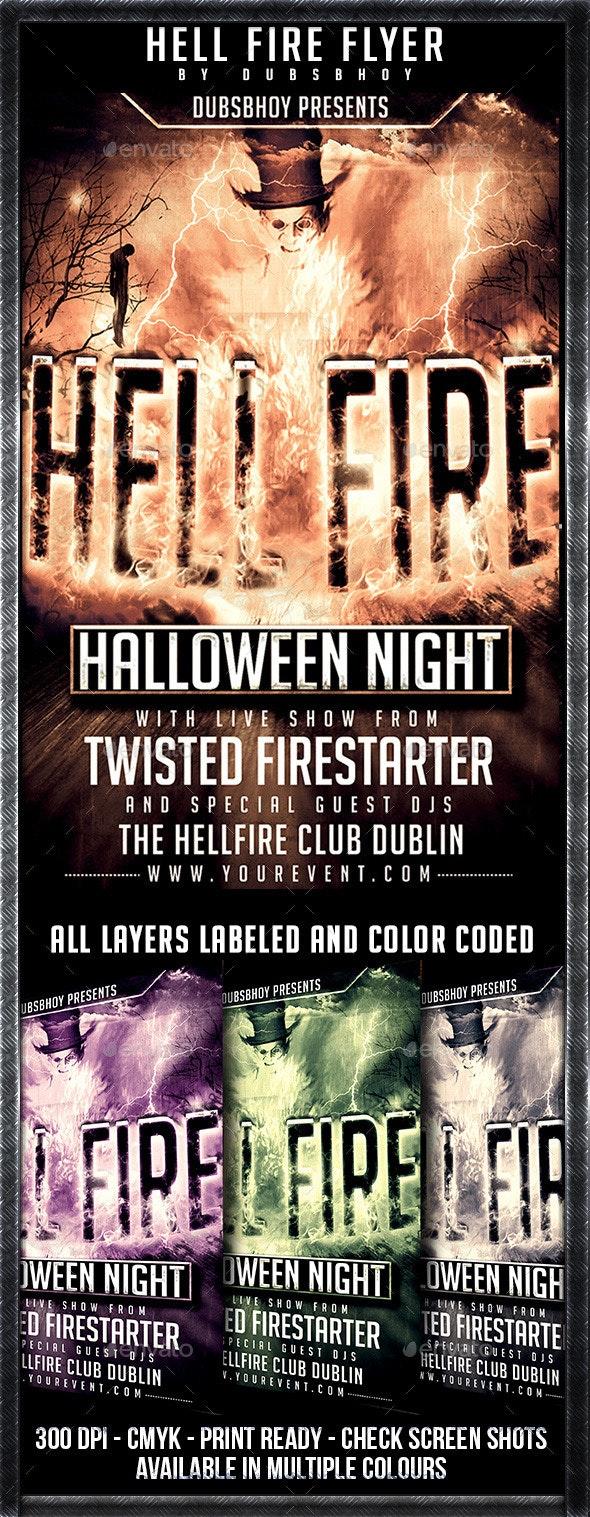 Hellfire Halloween Flyer - Flyers Print Templates
