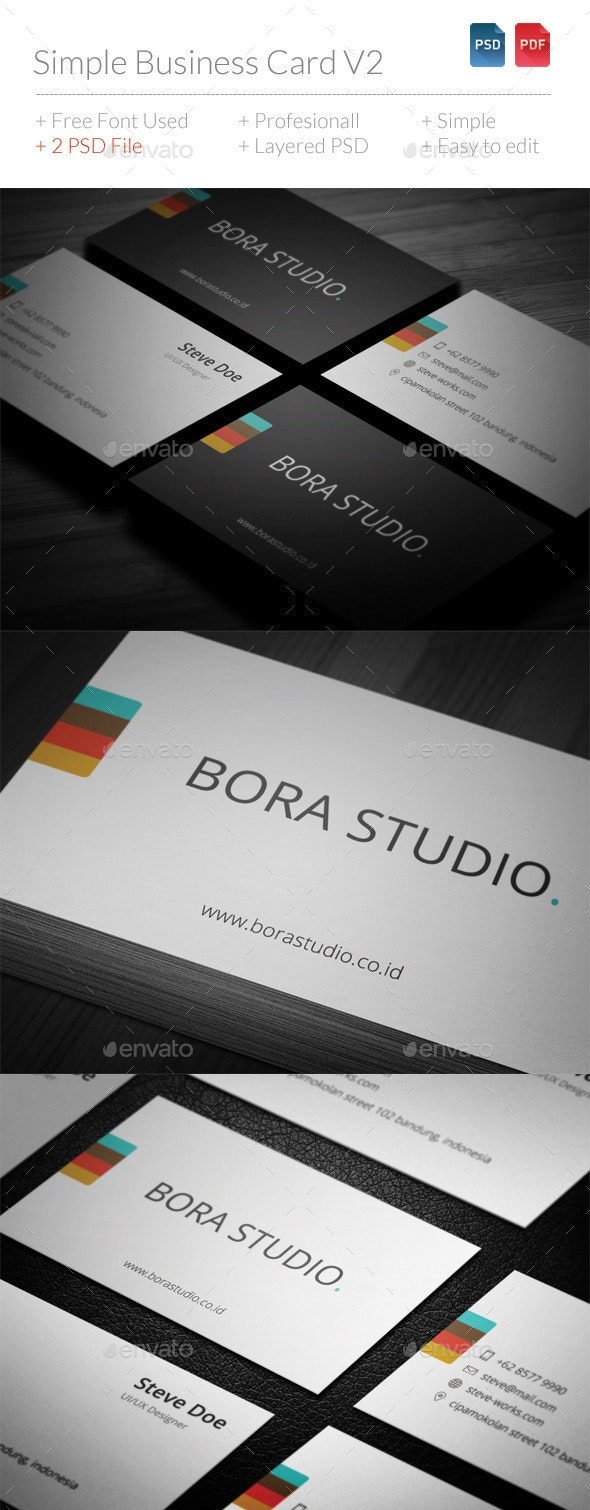 Simple Business Card V2 - Corporate Business Cards
