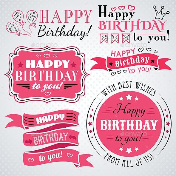Pink Happy Birthday Congratulations