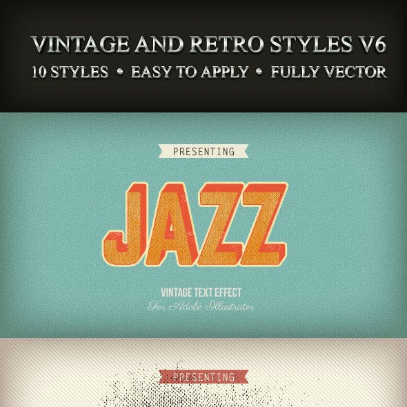 Vintage and Retro Styles V6
