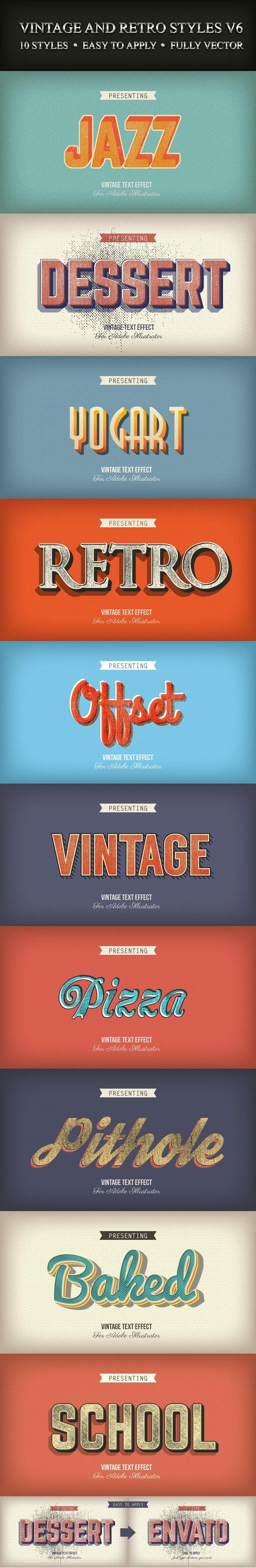 Vintage and Retro Styles V6 - Styles Illustrator
