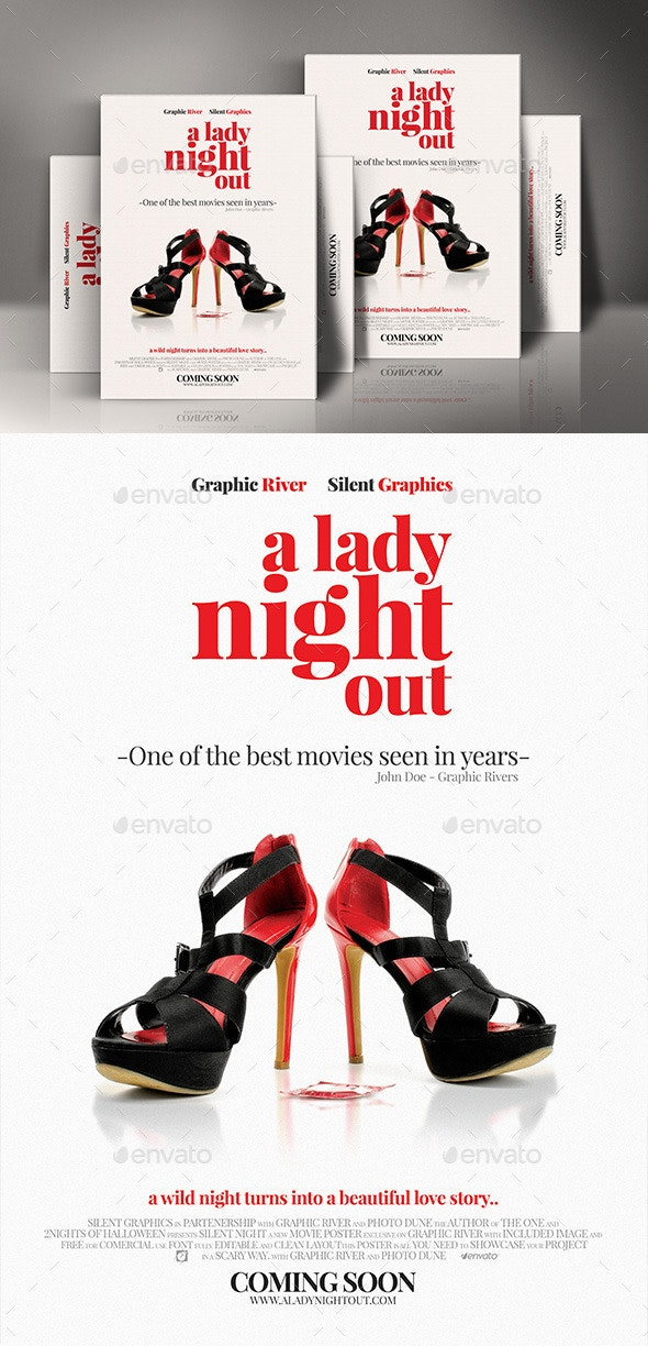 Comedy Movie Poster Template - Miscellaneous Events