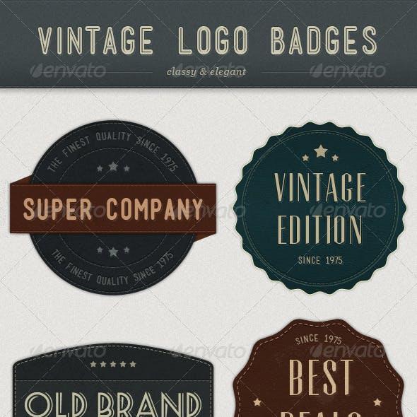 Modern Vintage Logo Badges