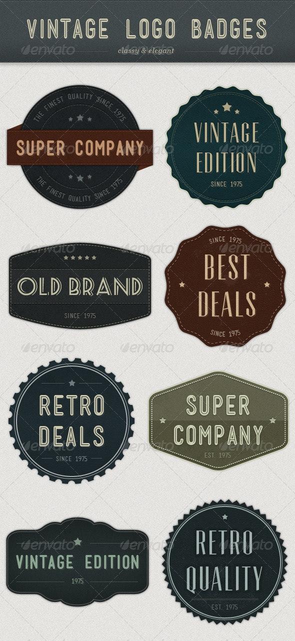 Modern Vintage Logo Badges - Badges & Stickers Web Elements