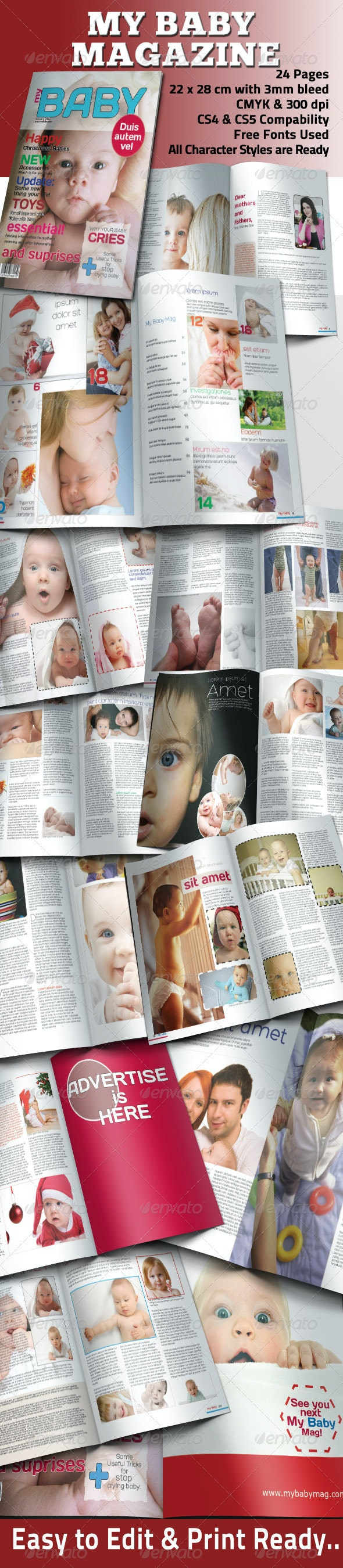 My Baby Magazine Template - Magazines Print Templates