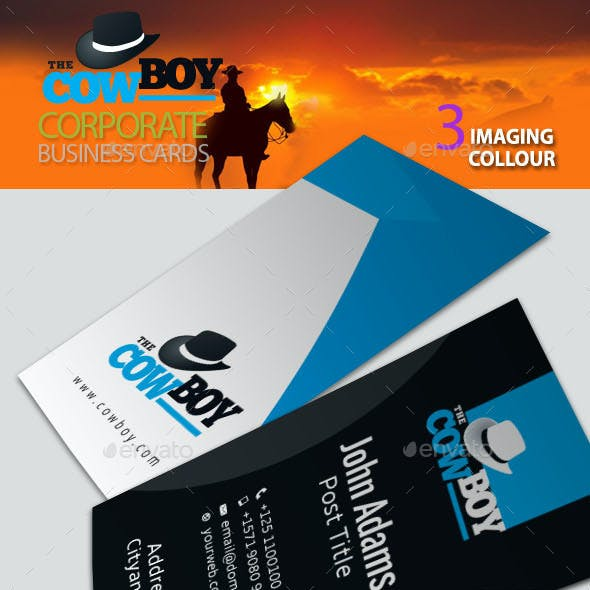 Cowboy Corporate Business Card