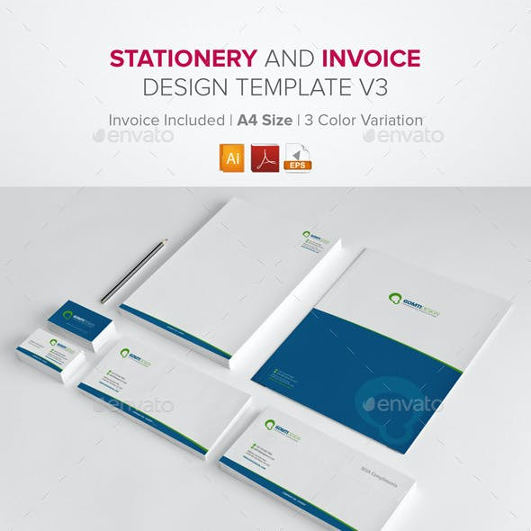 Stationery & Invoice Design Template v3