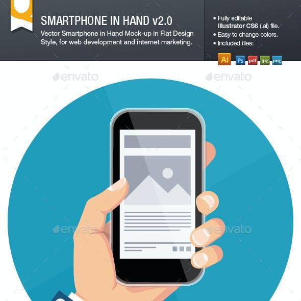 Vector Smartphone in Hand Mockup