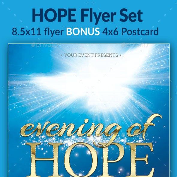 Evening of Hope Flyer Set