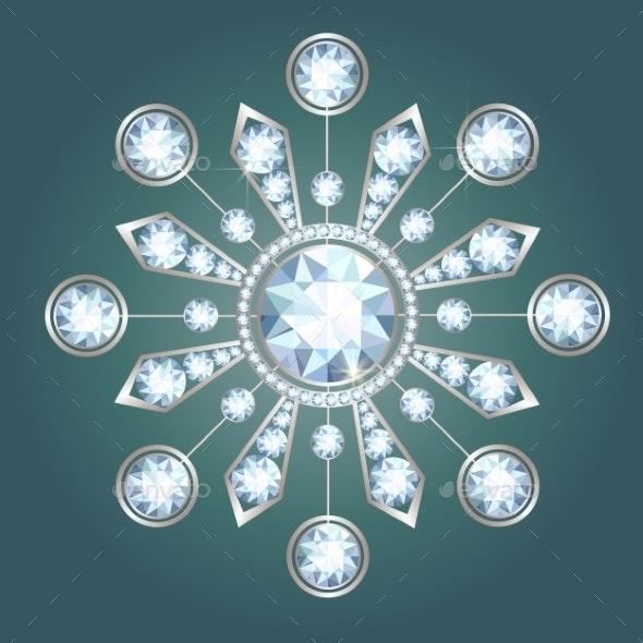 Diamond Brooch - Man-made Objects Objects