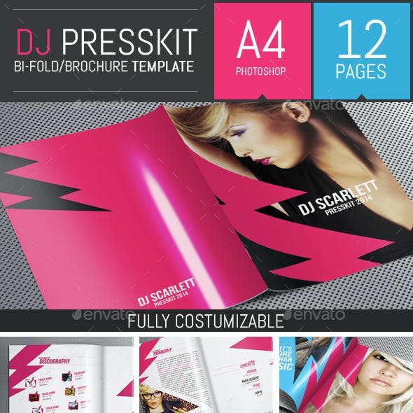 Let's Rock! - Dj / Musician Press Kit PSD Template
