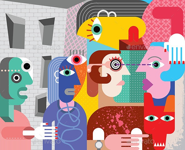 Abstract Art - People Characters