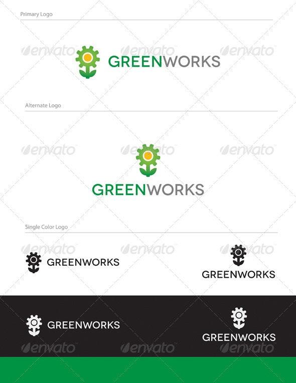 Green Works Logo Design - NAT-001 - Nature Logo Templates
