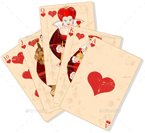 Hearts Royal Flush - Sports/Activity Conceptual
