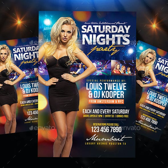 Saturday Nights Flyer + Instagram Promo