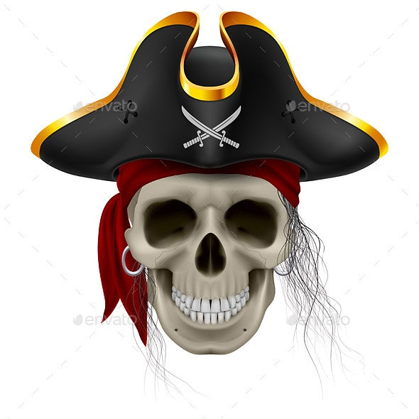 Pirate Skull - Characters Vectors