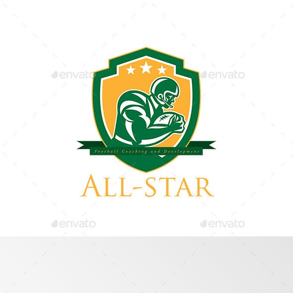 All-Star Football Coaching Logo