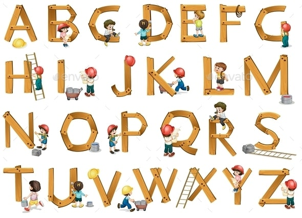 Alphabets  - Man-made Objects Objects