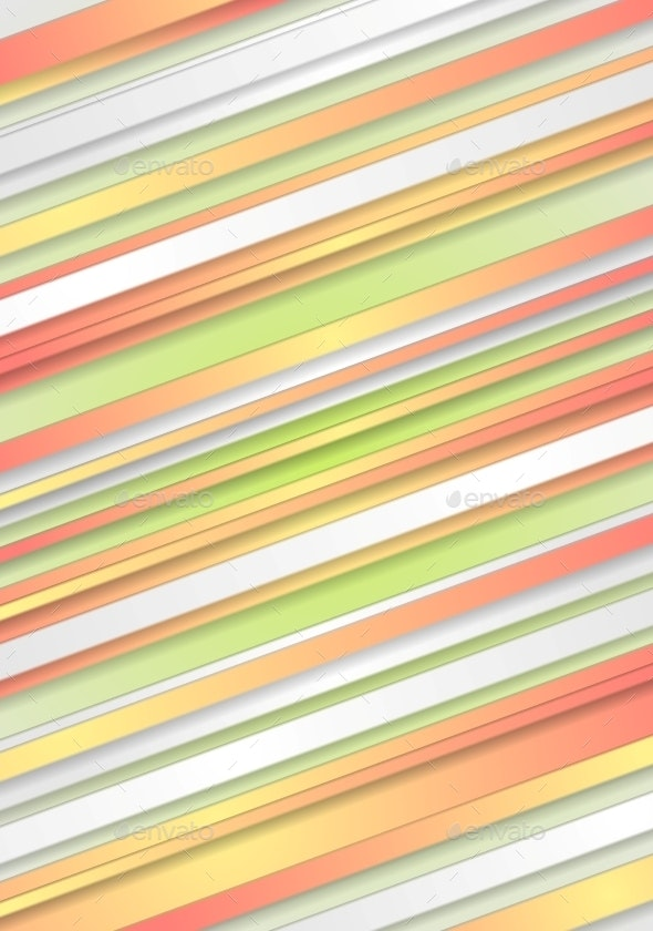 Abstract Pastel Colors Striped Background - Abstract Conceptual