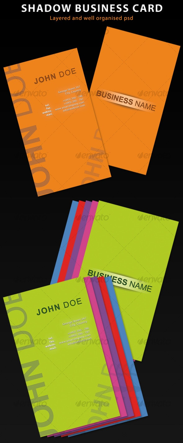 Shadow Business Card - Creative Business Cards