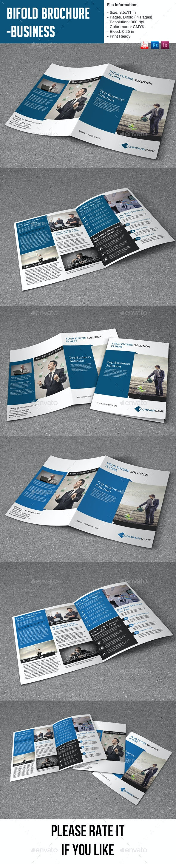 Bifold Brochure for Business-4 pages - Corporate Brochures
