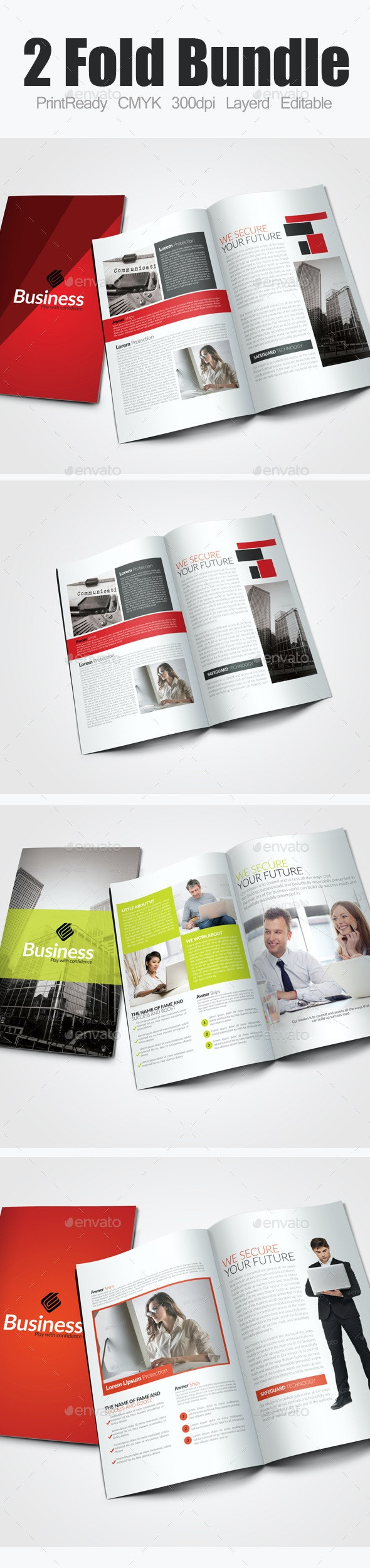 Bi Fold Business Bundle - Corporate Brochures