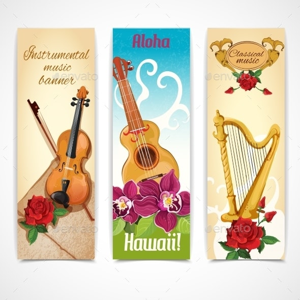 Music Instruments Banners - Miscellaneous Seasons/Holidays