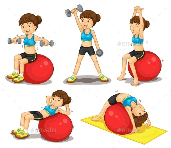 Fitness Series - People Characters