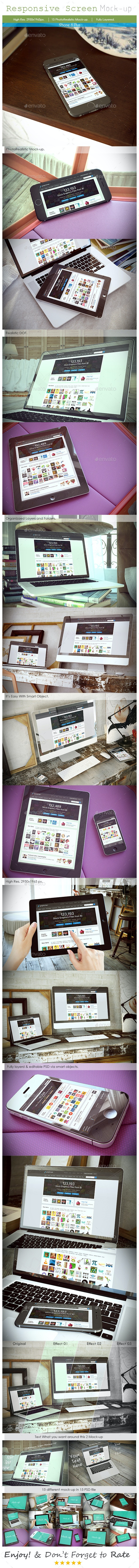 Responsive Device Mockup V2 - Multiple Displays