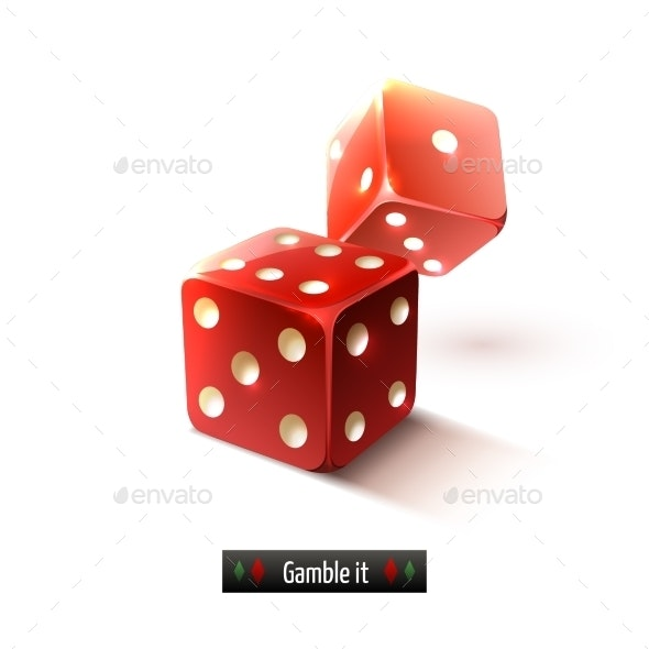 Realistic Dice Isolated - Miscellaneous Vectors
