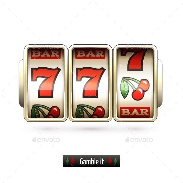 Realistic Slot Machine Isolated - Miscellaneous Vectors
