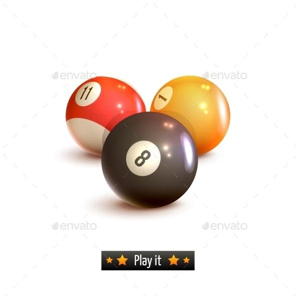 Billiard Balls Isolated - Miscellaneous Vectors