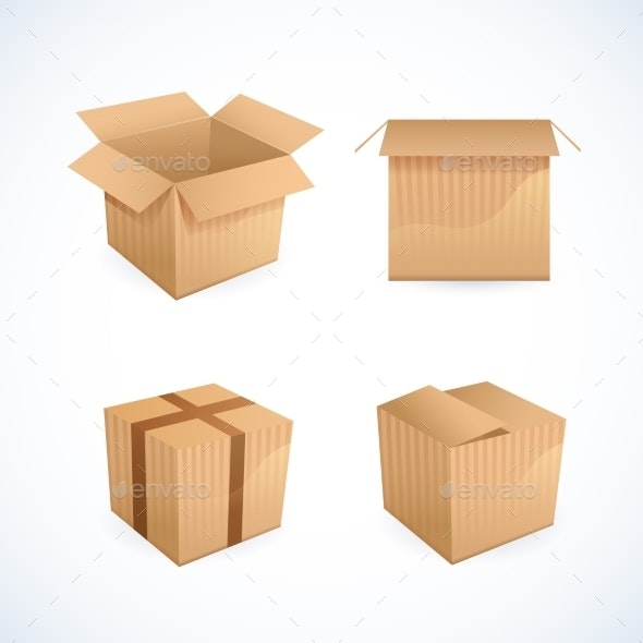 Box and Package Icons - Miscellaneous Vectors