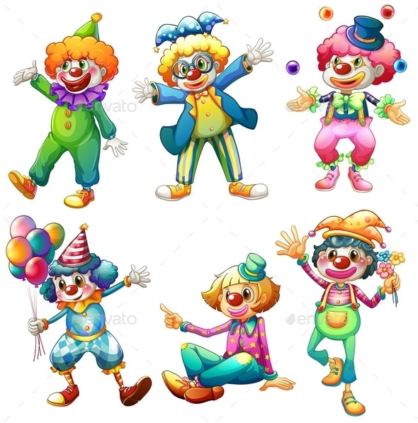 A Group of Clowns - People Characters