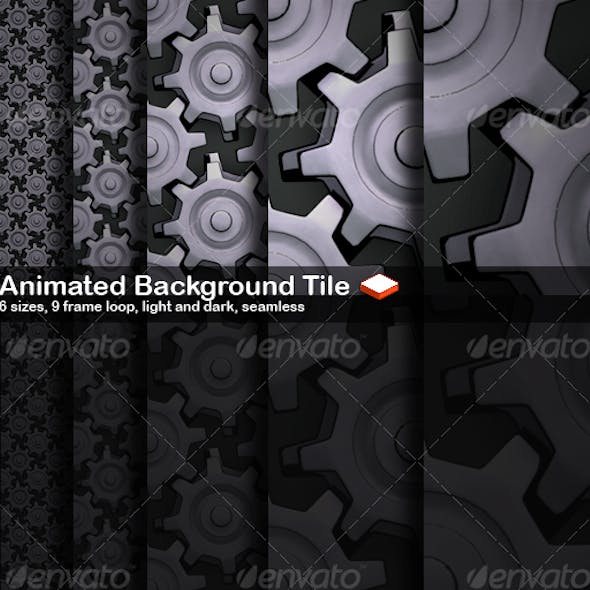 Animated Seamless Background Tile Cogs