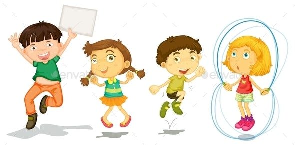 Active Kids Playing - People Characters