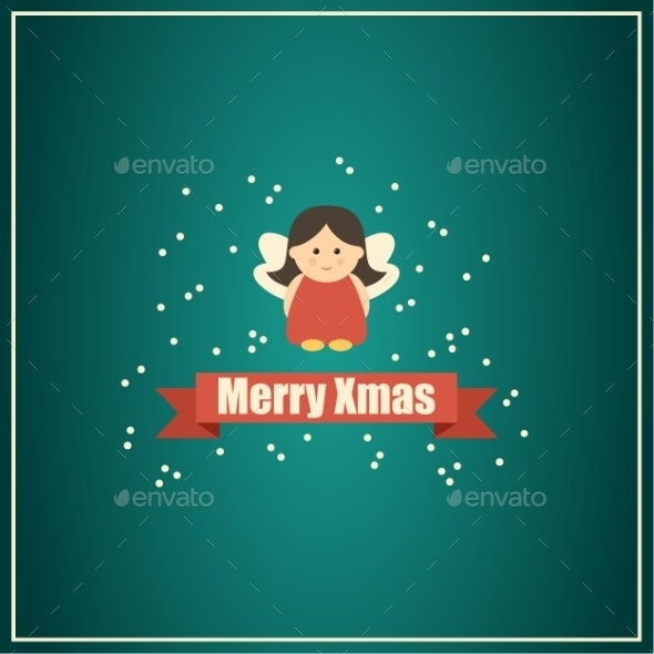 Christmas Card with Fairy.  - Christmas Seasons/Holidays